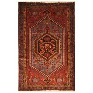 Herat Oriental Persian Hand-knotted Tribal Hamadan Wool Rug (4'9 x 7'4)