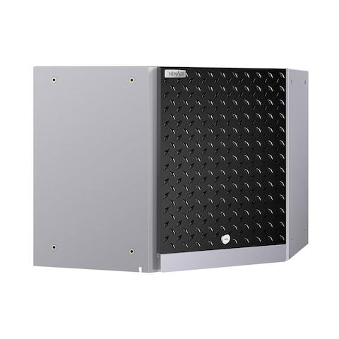 NewAge Products Performance 2.0 Diamond Plate Black Corner Wall Cabinet