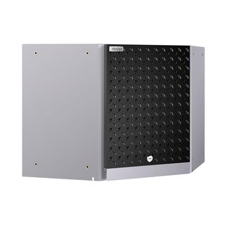 NewAge Products Performance 2.0 Diamond Plate Black Corner Wall Cabinet