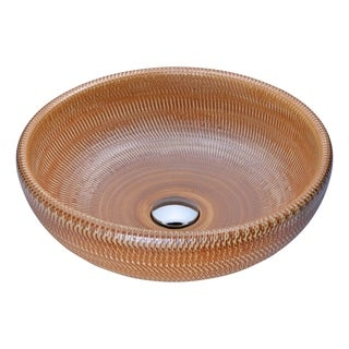 ANZZI Earthen Series Vessel Sink in Creamy Beige