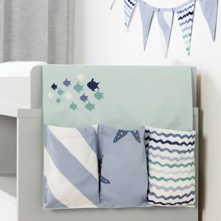South Shore Dream It Blue Little Whale Changing Table Runner and Pennant Banner