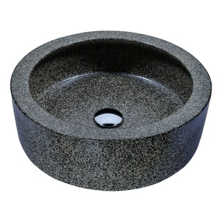ANZZI Black Desert Crown Vessel Sink in Speckled Stone