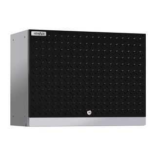 NewAge Products Performance 2.0 Diamond Plate Black Wall Cabinet