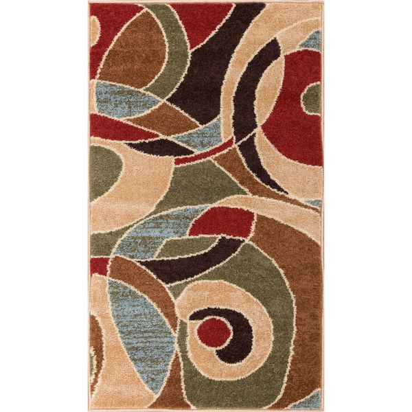 Ellie Modern Abstract Geometric Multi Area Rug (2'3 x 3'11)