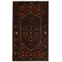 Handmade Herat Oriental Persian Tribal Hamadan Wool Rug (Iran) - 4'1 x 6'9
