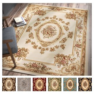 "Well Woven Agra Traditional French Country Aubusson Floral Area Rug - 9'3"" x 12'6"""