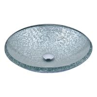 ANZZI Arc Series Vessel Sink in Clear Glass