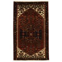Handmade Herat Oriental Persian Tribal Hamadan Wool Rug - 4'3 x 6'11 (Iran)