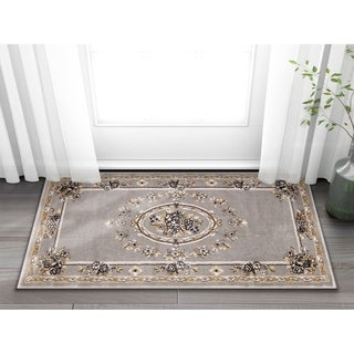 Well Woven Agra Traditional French Country Aubusson Floral Area Rug (2'3 x 3'11)