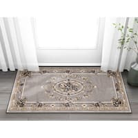 "Well Woven Agra Traditional French Country Aubusson Floral Area Rug - 2'3"" x 3'11"""
