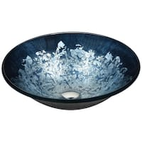 ANZZI Chrona Series Vessel Sink in Silver Burst