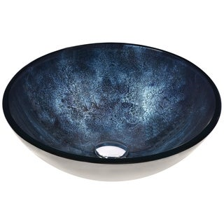 ANZZI Chrona Series Vessel Sink in Starlit Midnight