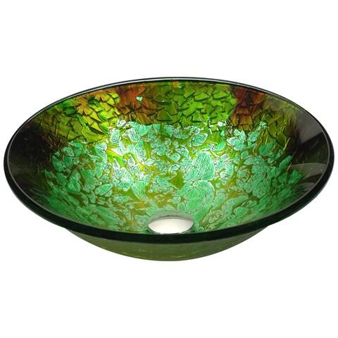 ANZZI Chrona Series Vessel Sink in Emerald Burst
