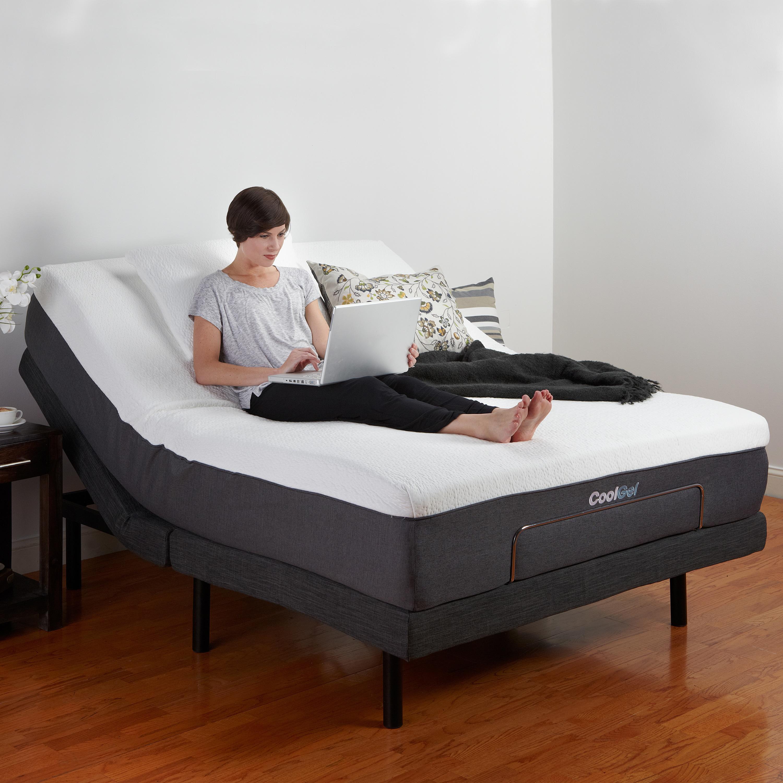 Postureloft adjustable bed base with massage wireless remote and usb ports