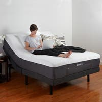 PostureLoft Adjustable Bed Base with Massage Wireless Remote and USB Ports