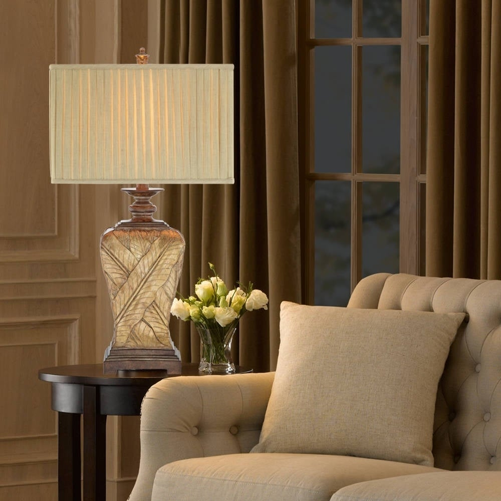 Gracewood Hollow Wattar 32-inch 3-way Wrapped Leaf Table Lamp
