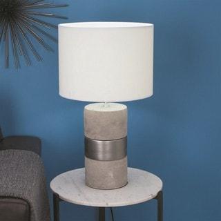 Urban Designs Elegant Concrete 24-inch Table Lamp (Set of 2)
