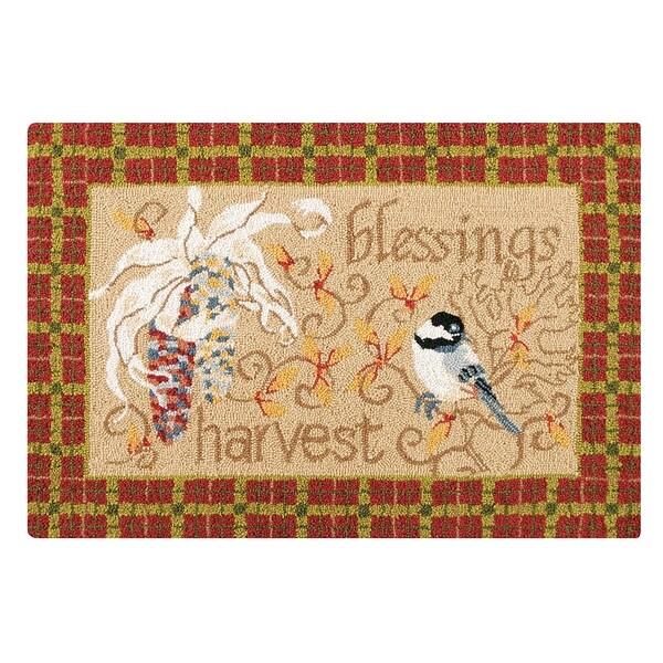 Harvest Gatherings Wool Hooked Rug - 2' x 3'
