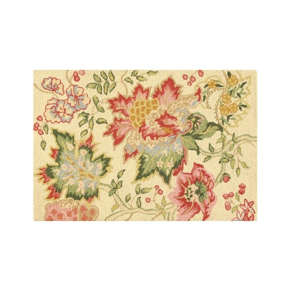 Shop Deanna Wool Hooked Rug 2 X 3 On Sale Free Shipping