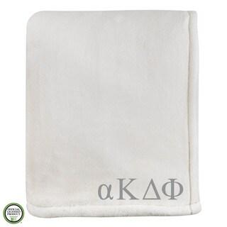 Vellux Sheared Mink Ivory Alpha Kappa Delta Phi Monogram Blanket