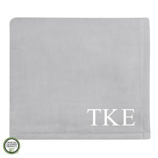 Vellux Plush Grey Tau Kappa Epsilon Monogram Blanket