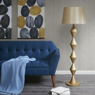 INK+IVY Corvalis Gold Floor Lamp