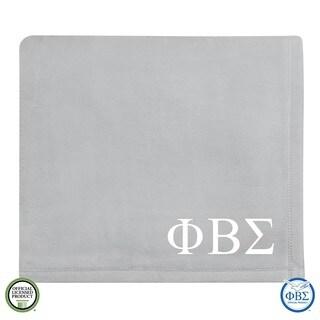 Vellux Plush Grey Phi Beta Sigma Monogram Blanket