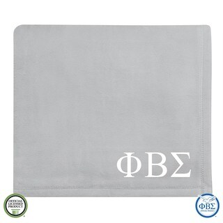 Vellux Plush Grey Phi Beta Sigma Monogram Blanket