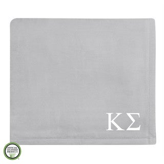 Vellux Plush Grey Kappa Sigma Monogram Blanket