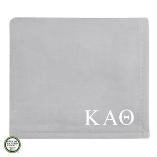 Vellux Plush Grey Kappa Alpha Theta Monogram Blanket