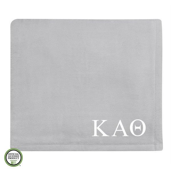 Vellux Plush Grey Kappa Alpha Theta Monogram Blanket