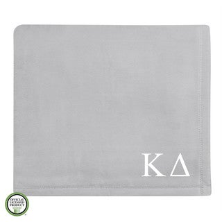 Vellux Plush Grey Kappa Delta Monogram Blanket