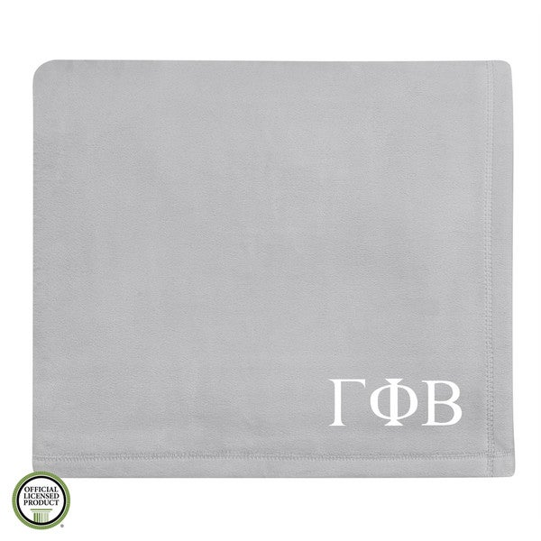 Vellux Plush Grey Gamma Phi Beta Monogram Blanket