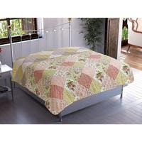 Chiara Rose Patchwork Carnival 1-Piece Quilt Coverlet