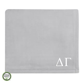 Vellux Plush Grey Delta Gamma Monogram Blanket