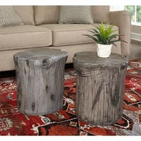 Hunter Grey Tree Stump Accent Table