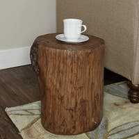 Bare Decor Hourglass Stump End Table Free Shipping Today