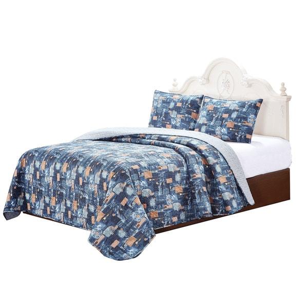 Blue Jeans Printed Quilt Set