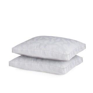 Carribean Joe Palm Leaf Lyocell/Cotton Blend Down Alternative Pillow (Set of 2)