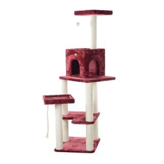 """Armarkat Cat 69"""" Beige Cat Tree"""