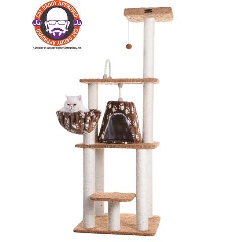 "Armarkat 64"" Chocolate Cat Tree Model"