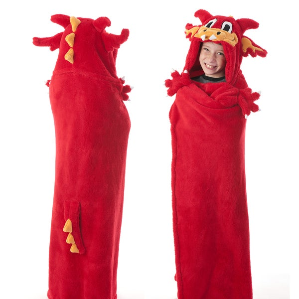 Berkshire Blanket Cuddly Buddies Red Dragon Throw