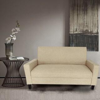 Adeco Tan Fabric Sofa