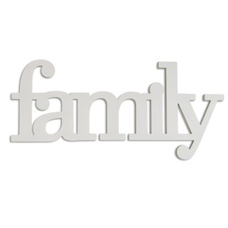 Stratton Home Décor Family Wood Typography Wall Art