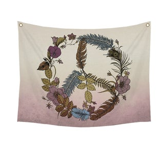 Stratton Home Decor Botanical Peace Wall Tapestry