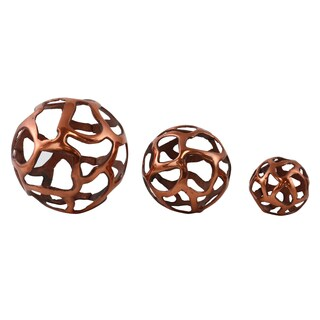 Roscoe Decorative Copper Orbs (Set of 3)