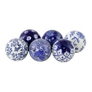 Jacinda Blue Ceramic Balls (Set of 6)