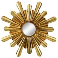 Athena Starburst Goldtone Iron Wall Mirror