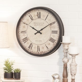 """Link to Layla Round Wall Clock - 20""""H x 20""""W x 3""""D Similar Items in Decorative Accessories"""
