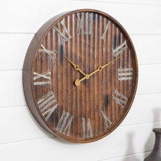 "Marcelle Metal Wall Clock - 20""H x 20""W x 2.5""D"